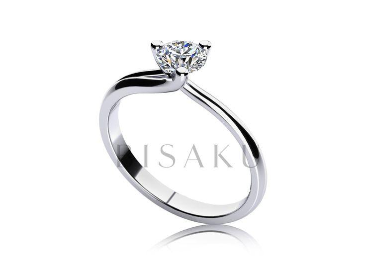 """C19 Křehká krása a zcela """"odhalený"""" kámen. Těmito slovy by se dal charakterizovat tento model zásnubního prstenu, u kterého jsme zvolili netradiční počet krapen držících kamínek a to tři. Krapny vycházejí z """"těla"""" prstenu a tvoří tak elegantní křivku. Samotný kámen je z boku zcela odhalen. #bisaku #wedding #rings #engagement #svatba #zasnubni #prsteny"""