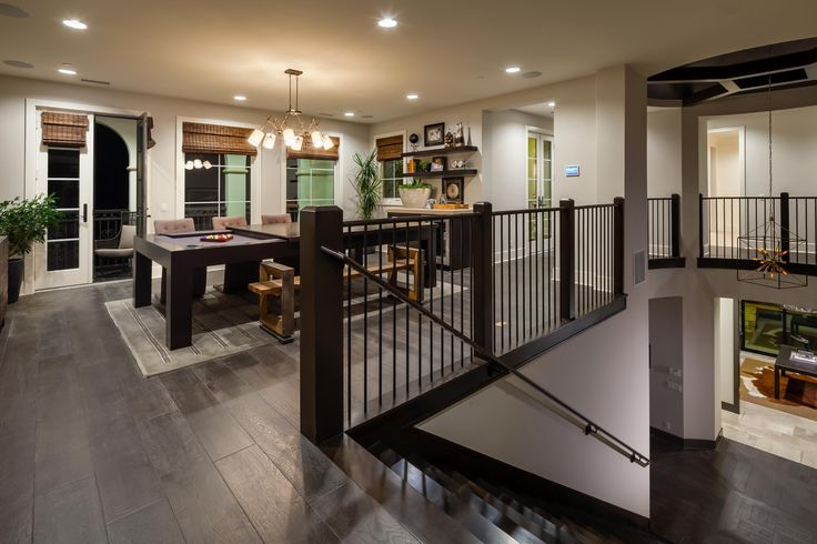 Host friends and family in this gorgeous loft at the Westcliffe at Porter Ranch model home, from the Palisades Collection by Toll Brothers.