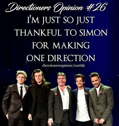 one direction, simon cowell and directioners opinion image on We Heart It