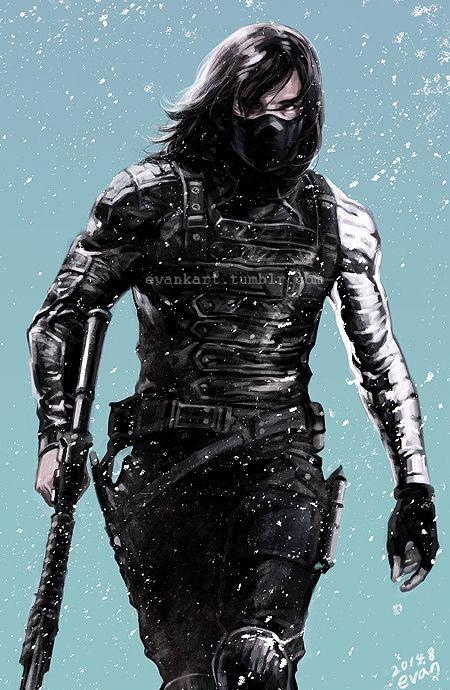 winter soldier by evankart.deviantart.com on @deviantART // AHHHHHHHHHHHHHHHHHHHHHHHHHH