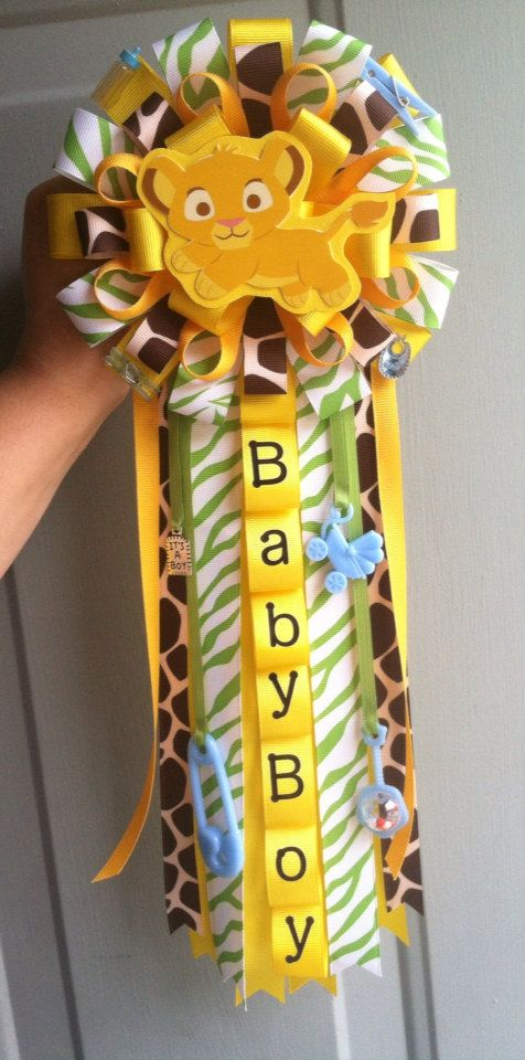 Lion king baby shower corsage by ModernMumsCollection on Etsy