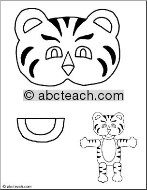 tiger puppet template - word puzzles student teacher and paper bags on pinterest