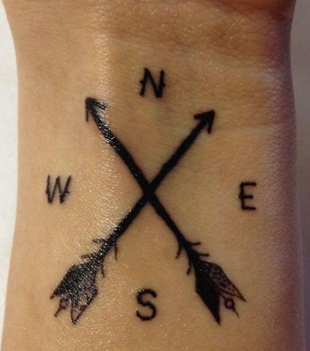 Les 25 meilleures id es de la cat gorie tatouages de fl ches crois es sur pinterest tatouage - Tatouage doigt signification ...