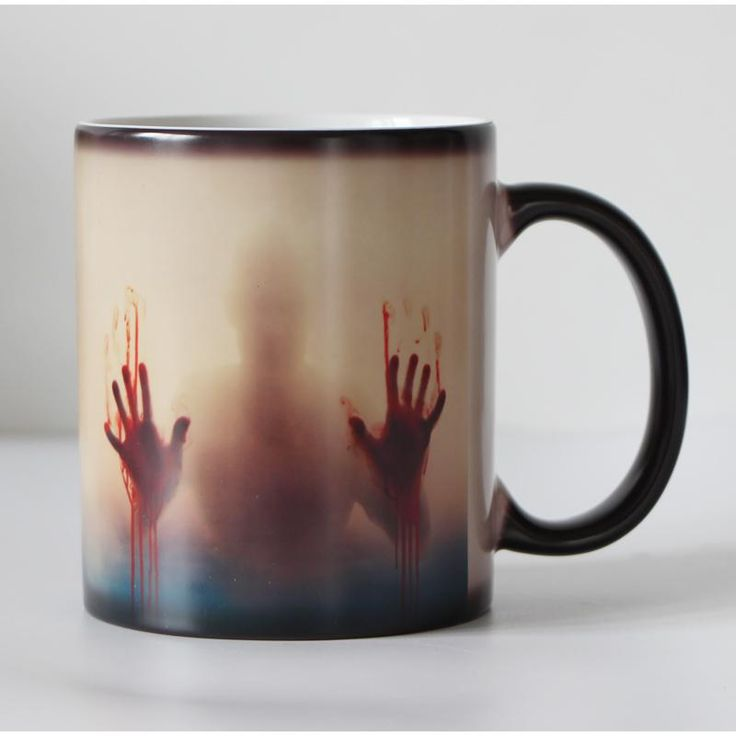 Does this have your name written all over it? Get Color Changing Co... at http://karmicspirits.com/products/color-changing-coffee-tea-cup-zombie-mugs-halloween-christmas-gift?utm_campaign=social_autopilot&utm_source=pin&utm_medium=pin