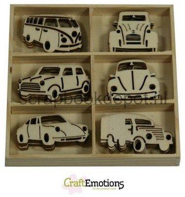 CraftEmotions Houten ornamenten - Klassieke auto's