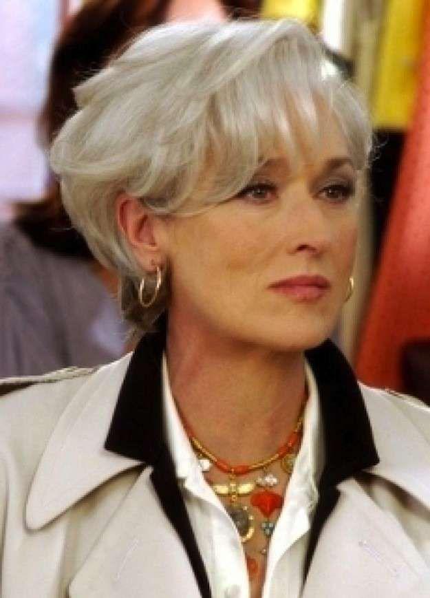 Peinados para mujeres de 40 años: fotos de los peinados - Perlo corto color blanco