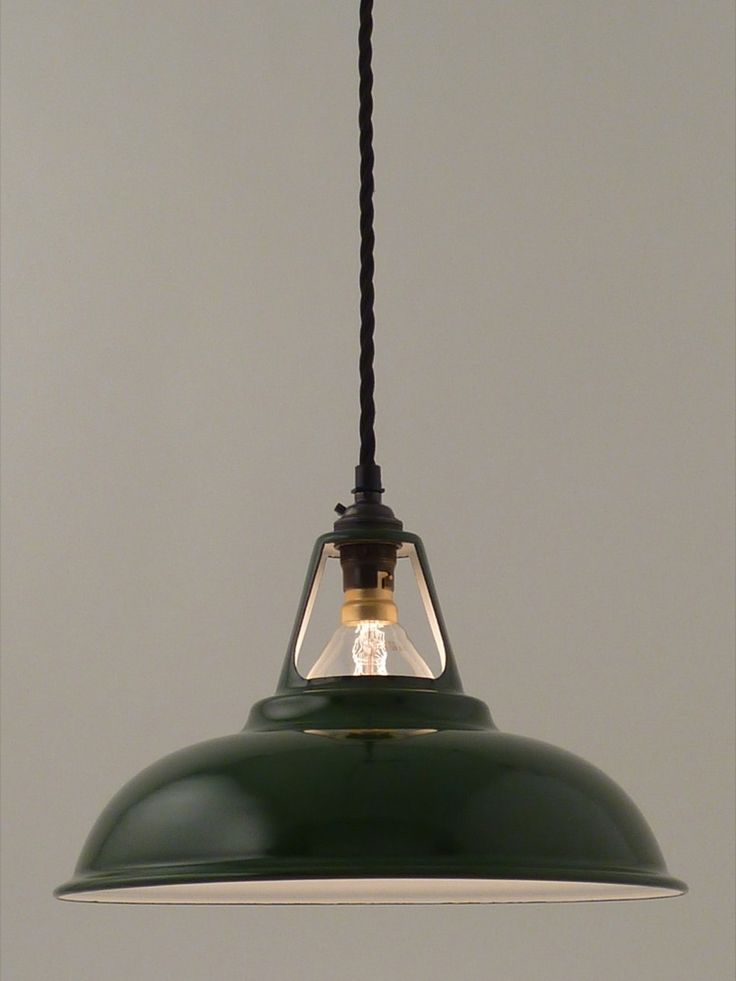 Image of enamel workshop shade | 280mm | racing green