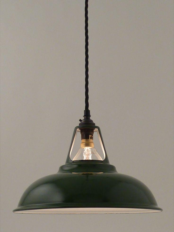 Image of enamel workshop shade | 280mm | racing green