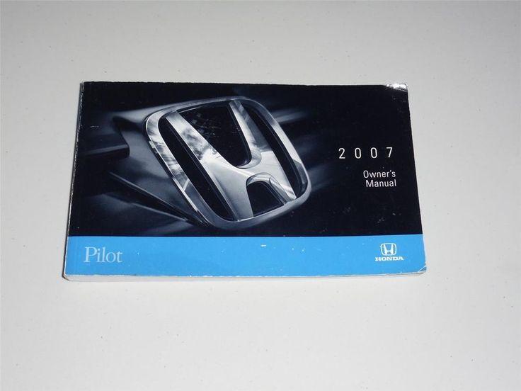 2007 Honda Pilot Owners Manual Book