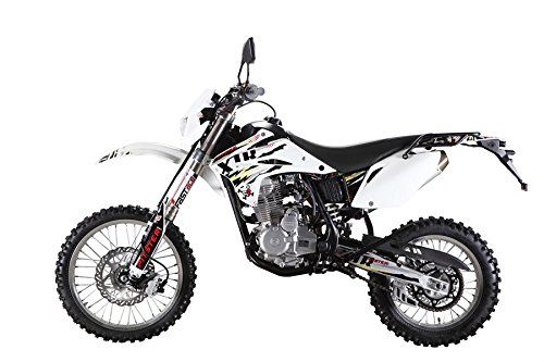 All Powerful Durable MOTOR T4 XTR 250 Dual Sport Bike 18/21 Wheels. Message for Color Options: White. Model: XTR 250 LC - Bore and Stroke: 65.5mm x 66.2mm - Carburetor: PZ30 - Clutch: Multi Plate Wet Clutch. Compression Ratio: 9:1 - Cooling: Air Cooled - Engine: Four stroke 223cc SOHC Air Cooled - Gearing: TBD - Ignition: Stator/ CDI with lighting coil - Starter: Electric & Kick - Transmission: 5 Speed Manuel Clutch. Curb Weight: 214 lbs - Frame: High Tensile Steel - Fuel Capacity: 2.11…