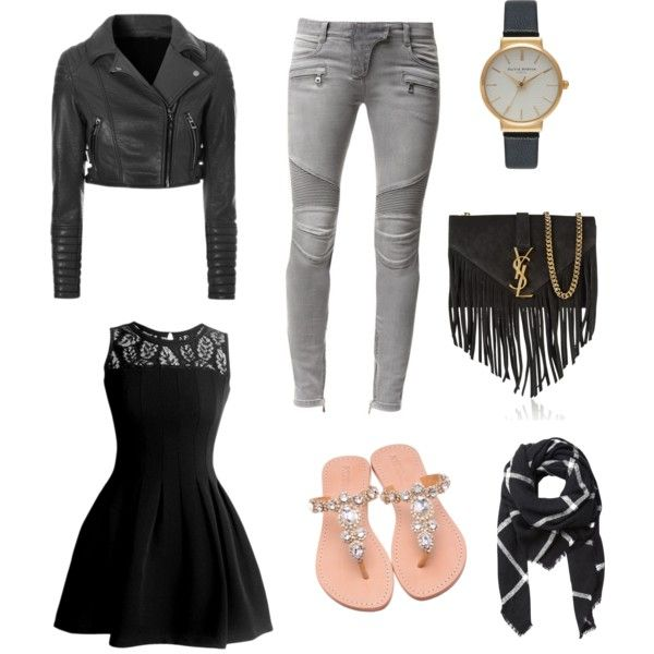 Gold by muslimco on Polyvore featuring polyvore, mode, style, Balmain, Yves Saint Laurent, Olivia Burton and Witchery