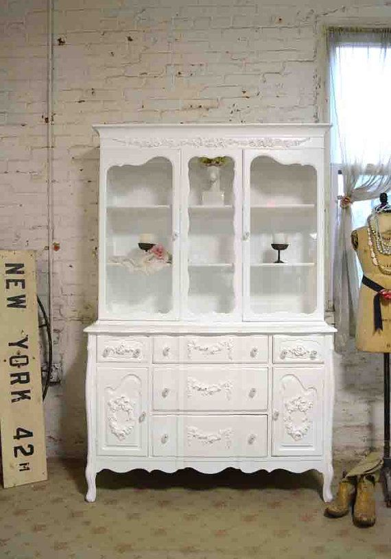 Painted Cottage Chic Shabby White Romantic by paintedcottages