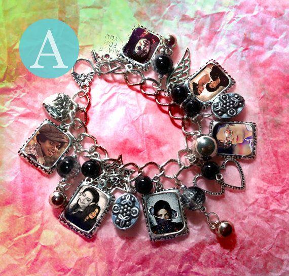 Michael Jackson Charm Bracelet Necklace by VoDoFad on Etsy