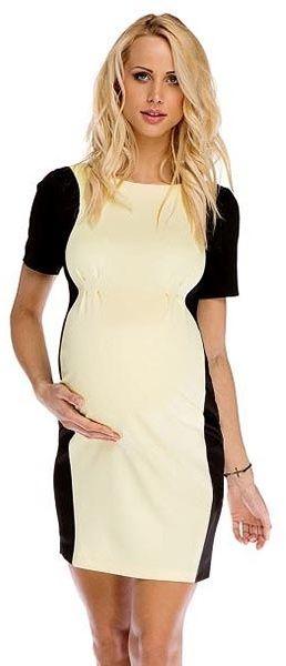 sukienka ciążowa adele żółta p261 # xl
