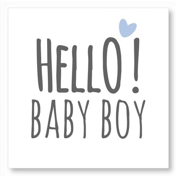 Stickers Hello Babyboy wit