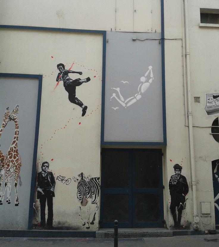 Street Art. Théàtre de l'Européen, Paris. © ESTBO. © photo : isacolo.com
