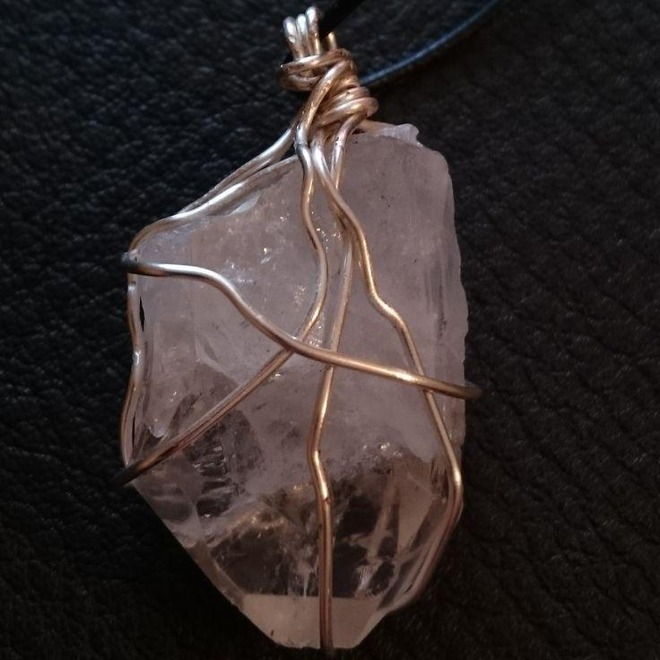 Clear Quartz Spirit Necklace (1/2)  #enlightened #spiritguide #crystal #wirewrap #ascensionenchanted #handmade #healing