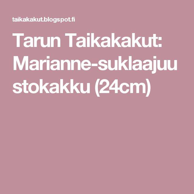 Tarun Taikakakut: Marianne-suklaajuustokakku (24cm)