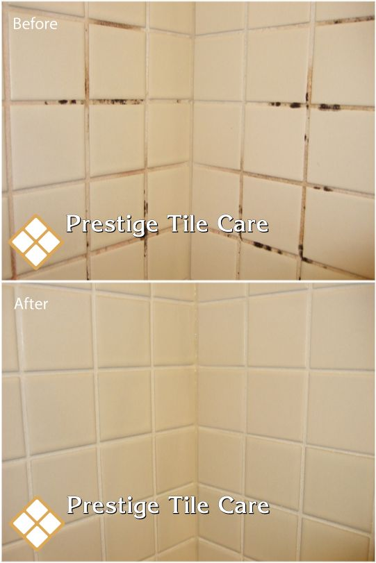 Before And After Cleaning Colorsealing Shower Grout