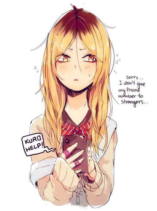 Genderbent Kenma! Wow this look really great: