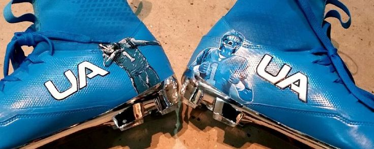 Panthers QB Cam Newton wearing custom-made dabbin' cleats - Carolina Panthers Blog- ESPN