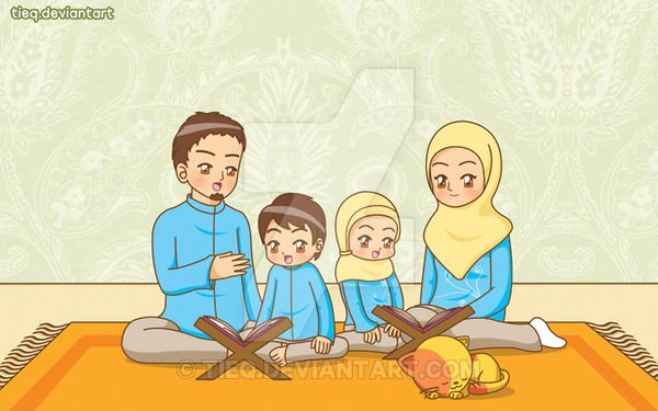 Assalamu'alaikum~ It's been so long i didn't submit my deviation. Hope you'll like this illustration It's about parents who wants to teach their children to read Al Qur'an Client : Pustaka Al Kauts...