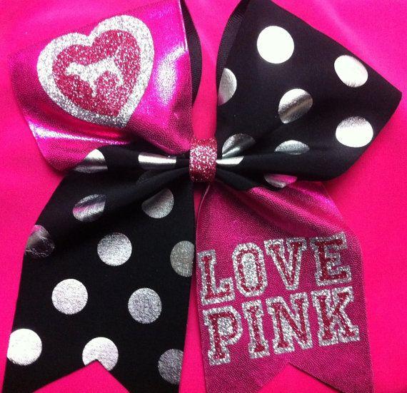 """3"""" Cheer Bow- Love Pink! on Etsy, $12.00 @Tiffany Daarud"""