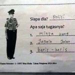 Jawaban Ujian Anak Sekolah Yang Ngakak