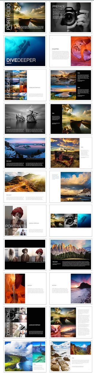 iBooks Author Photo Essay Template - Editorial layout and book design for iBooks Author