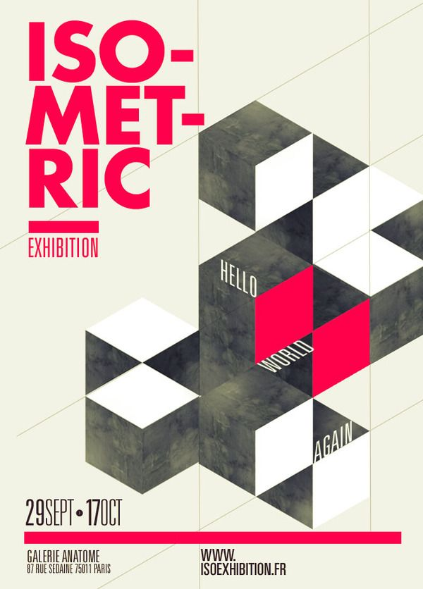 ISOMETRIC EXHIBITION by Thomas Ciszewski, via Behance