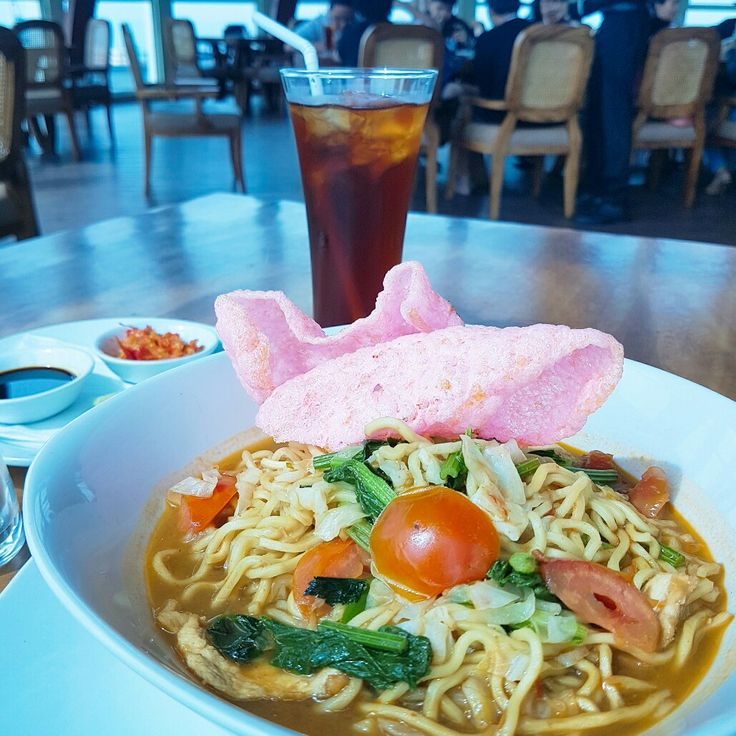 """New year = New food ! Our brand new Lunch Package is the answer of your appetite. Taste this """"Javanese Soup Noodle"""" for only IDR 75.000,- Nett Including Ice Tea along with a Scoop of Ice Cream.  #on20makassar 