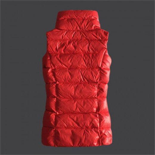 veste hiver femme, marque de luxe Moncler Doudoune Sans Manche Rouge pas cher, veste cuir femme