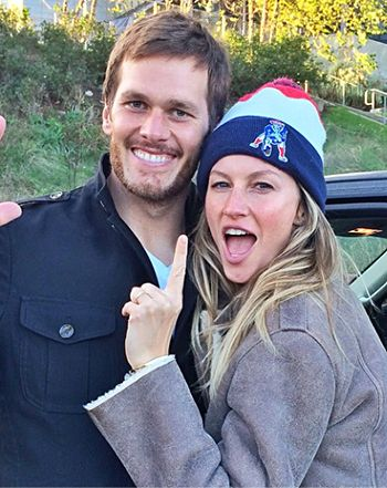 Gisele Bundchen shared a sweet photo with Tom Brady after the New England Patriot's big win.