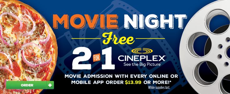 Pizza Pizza Canada: Free 2 For 1 Cineplex Admission With Online/Mobile Orders -  http://www.groceryalerts.ca/pizza-pizza-canada-free-2-1-cineplex-admission-onlinemobile-orders/