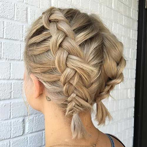 15.Updo for Short Hairstyles