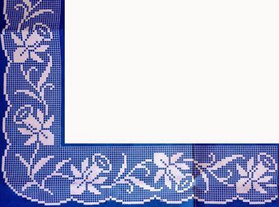 Uncinetto e crochet: Schemi bordi a filet mille usi