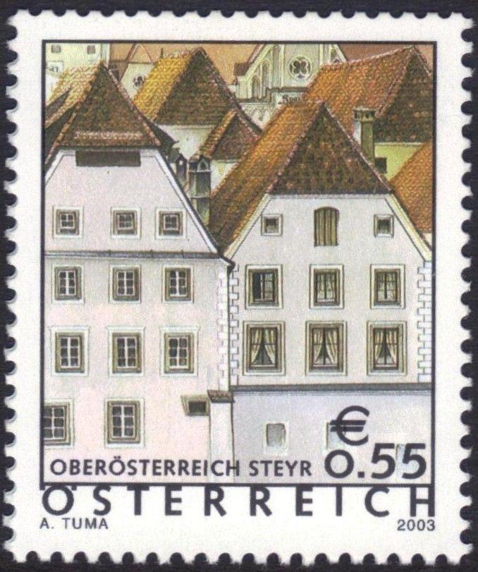 Znaczek: Steyr (Upper Austria) (Austria) (Holiday country Austria) Mi:AT 2415,Sn:AT 1868,Yt:AT 2247,ANK:AT 2449,AFA:AT 2309,WAD:AT013.03,Un:AT 22…