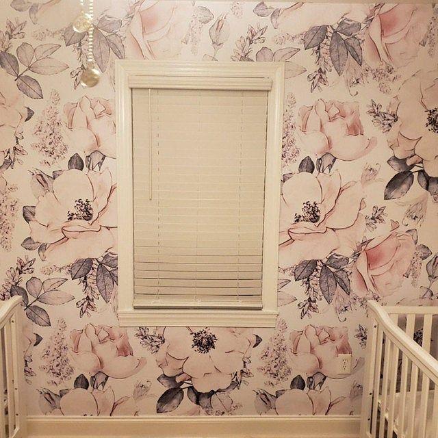 Removable Peel N Stick Wallpaper Self Adhesive Wall Etsy Nursery Room Decor Girl Geometric Wallpaper Baby Room Decor