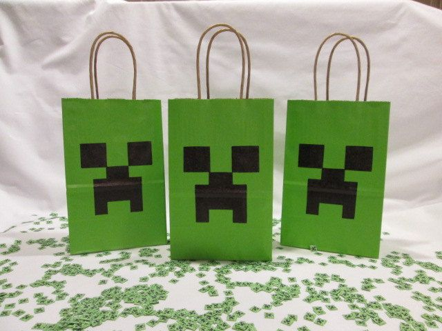 Minecraft+Birthday+Party+Favor+Bags+You+Choose+by+MrKittensCrafts,+$1.50