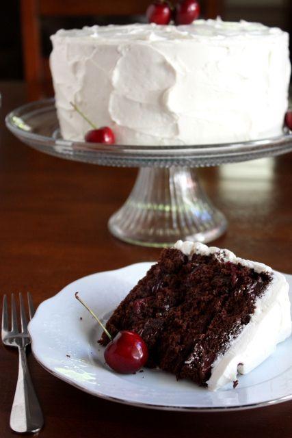 Cherry Chocolate Cake With Cherry Vanilla Buttercream