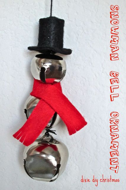 Snowman Bell Ornament by dixiediy, via Flickr