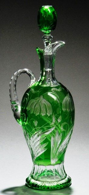 Decanter; Stevens & Williams. Circa 1880-1920.