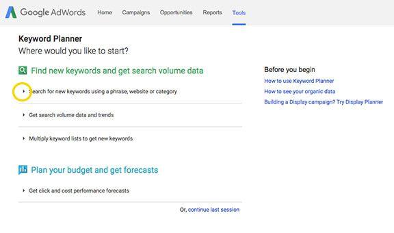 How To Use Google Keyword Planner Keyword Planner Being Used Digital Marketing