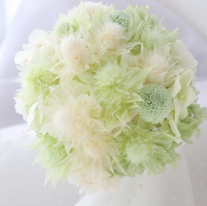 セルリアのブーケ @伊勢丹 : 一会 ウエディングの花