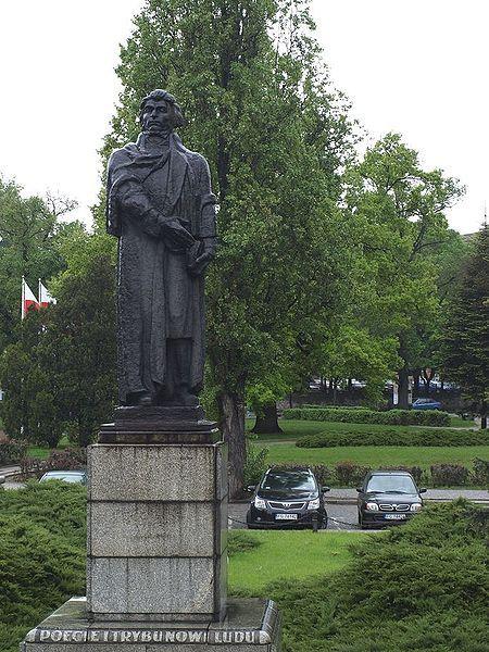 Monument of Adam Mickiewicz in Gorzów Wielkopolski