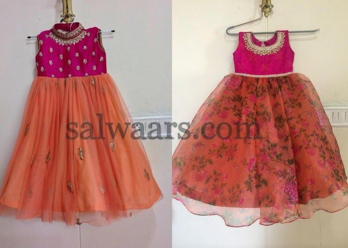 Printed Floral Net Frocks