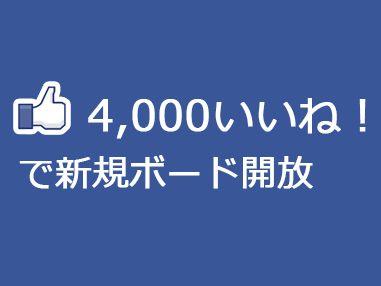 九州鉄道記念館のFacebookページのいいね!が4,000突破時に新規ボードを追加します!!