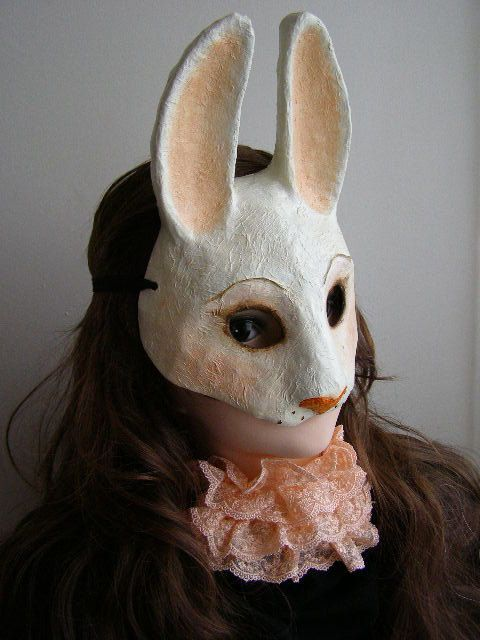 Animal mask Rabbit mask Hare mask Bunny mask by EpicFantasy