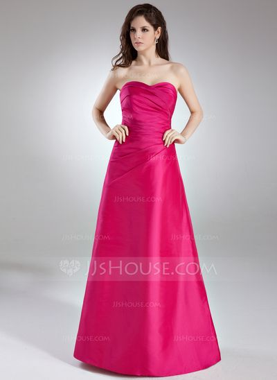 Bridesmaid Dresses - $109.99 - A-Line/Princess Sweetheart Floor-Length Taffeta Bridesmaid Dress With Ruffle (007004289) http://jjshouse.com/A-Line-Princess-Sweetheart-Floor-Length-Taffeta-Bridesmaid-Dress-With-Ruffle-007004289-g4289