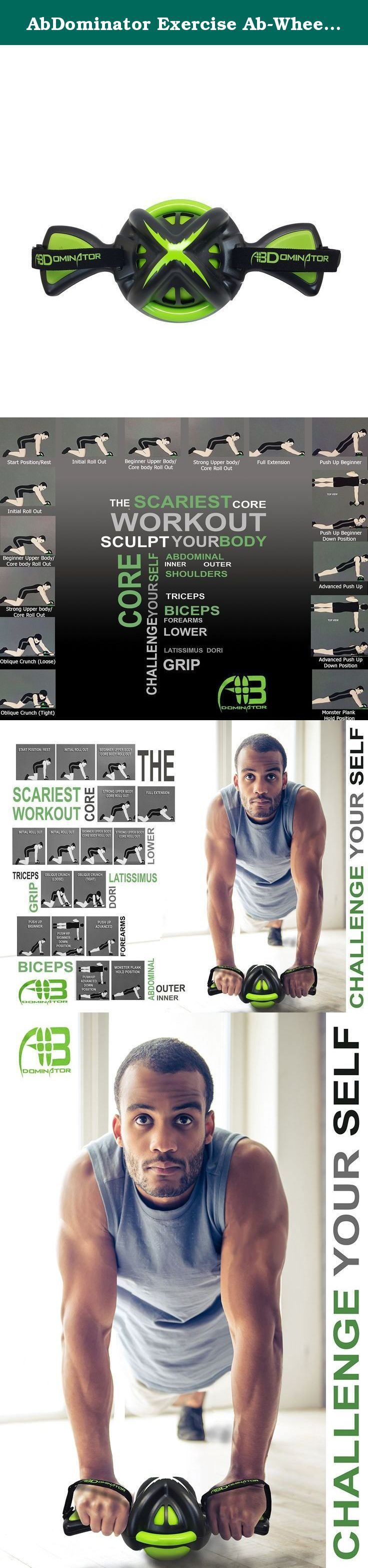 AbDominator Exercise Ab-Wheel / Ab-Roller - Perfect Core Workout For Men & Women At Any Fitness Level. Perfect your body with the AbDominator. (See images above). This highly effective fitness tool uses a patented multi-directional roller ball that allows smooth rolling in absolutely any direction. Try an arch, s-curve, figure 8 or one of your own patterns to control the intensity & achieve a satisfying full-body workout. The toning wheel features gel grips & handle straps and is built...